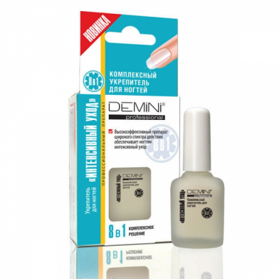 DEMINI Professional Комплексный укрепитель для ногтей ИНТЕНСИВНЫЙ УХОД 8в1